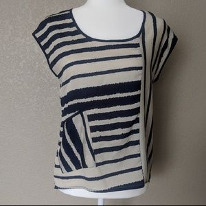 Charming Charlie striped Blouse sz S